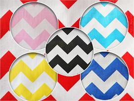 Polycotton Fabric Printed Large Chevron