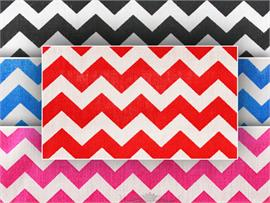 Polycotton Fabric Printed Small Chevron
