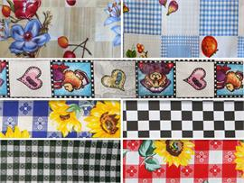 Polycotton Fabric Printed Checkers