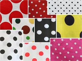 Polycotton Fabric Printed Dots