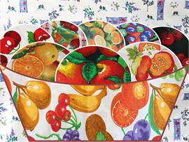 Polycotton Fabric Printed Fruits