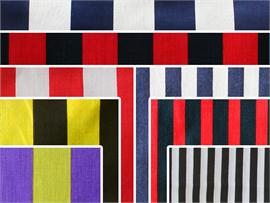 Polycotton Fabric Printed Stripes