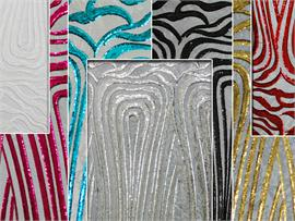 Mesh Floral Flare Fabrics