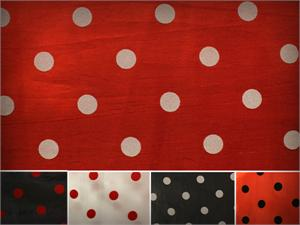 Taffeta Flocking Dots Fabrics