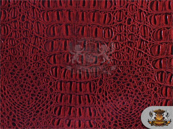 Vinyl crocodile gator metallic bronze fake leather - Fabric that looks like metal ...