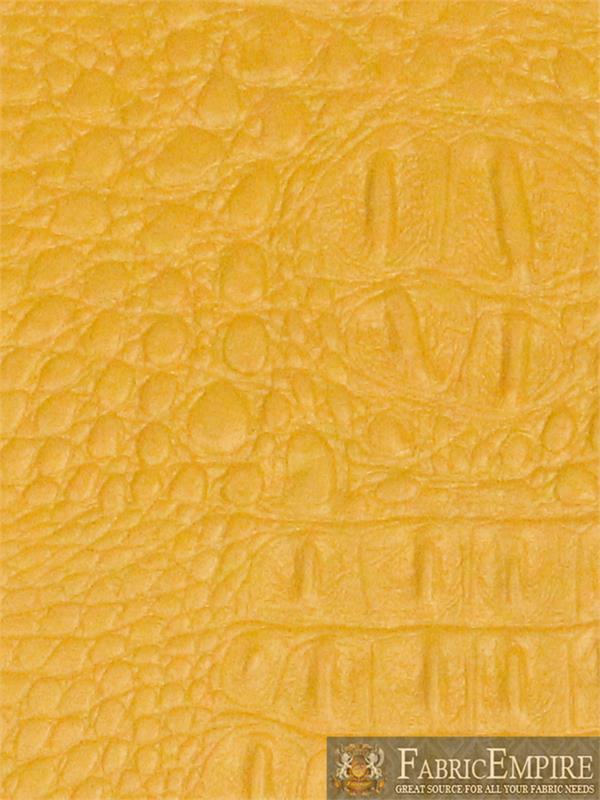 Vinyl Crocodile Gator Dark Mustard Fake Leather