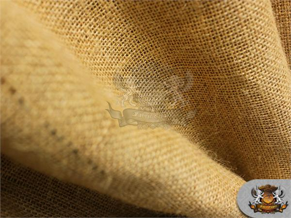 "Hi Quality Burlap Jute Fabric Camel 60/"" Wide Sold by the yard"