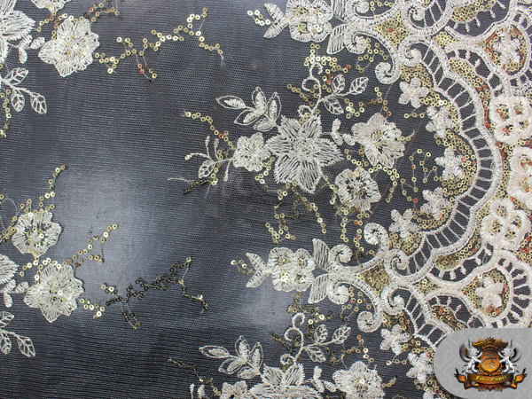 Details about mesh embroidered sequin fabric 54 wide sold by the