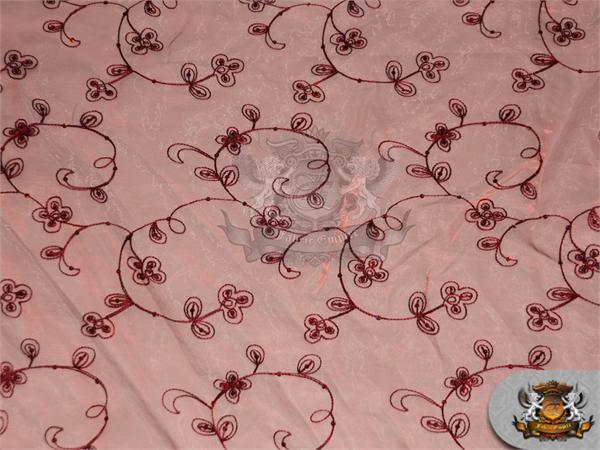 Organza Floral Dahlia Fabric Burgundy 60 Quot Wide Sold By