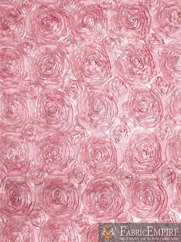 """Rosette Satin Fabric// 54/"""" Wide Sold by the yard"""