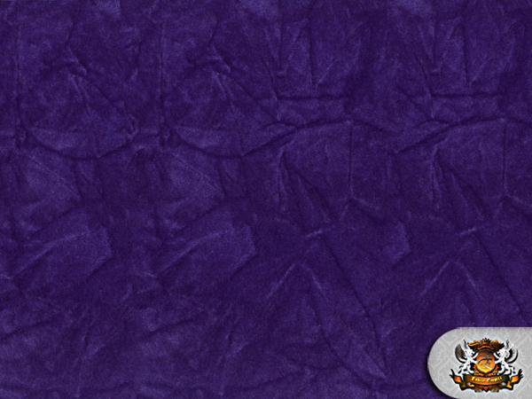 Velvet Crushed Purple Upholstery Fabric 54 Wide Sold By The Yard