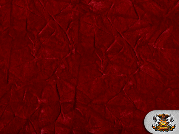 Velvet Crushed Red Upholstery Fabric By The Yard