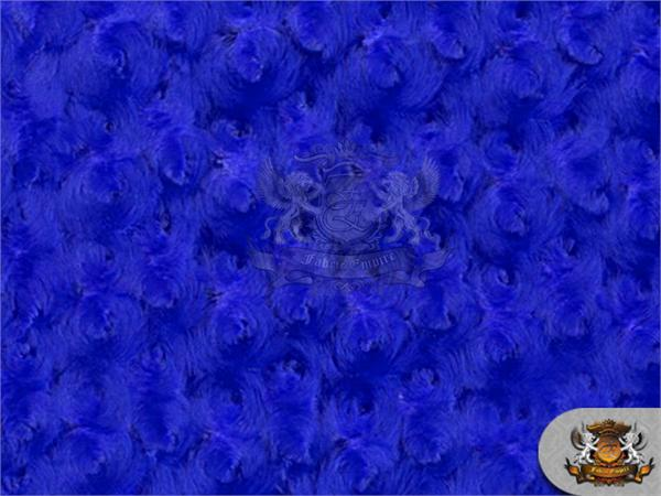 Minky Rosebud Royal Blue Fabric 58 Quot Wide Sold By The