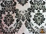 Taffeta Damask Flocking Fabric