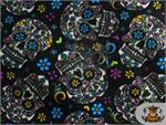Skull Design Fleece Fabric