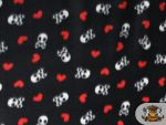 Hearts Pattern Fleece Fabric